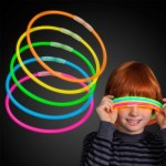 50 22″ Premium Glow Stick Necklaces Assorted Colors Glowsticks