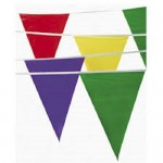 100 Foot Multicolor Pennant Banner